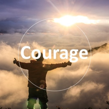 We all have the courage to climb over the wall of ourselves.